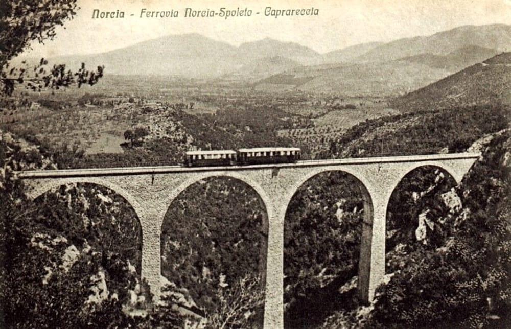 Eisenbahn Spoleto Norcia in den dreißiger Jahren