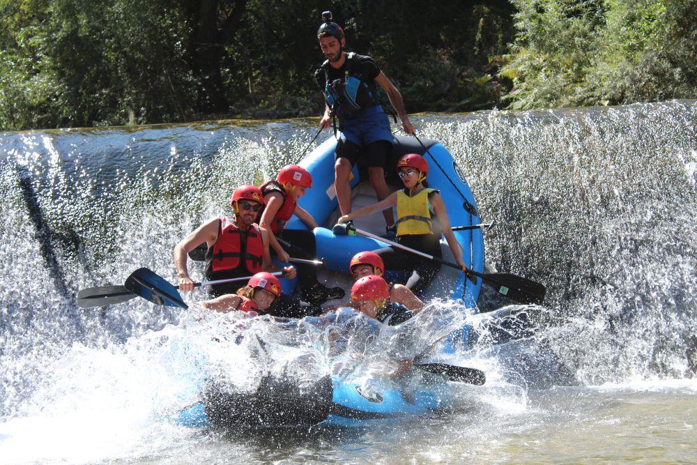 Rafting auf dem Fluss Corno in Umbrien - Italien