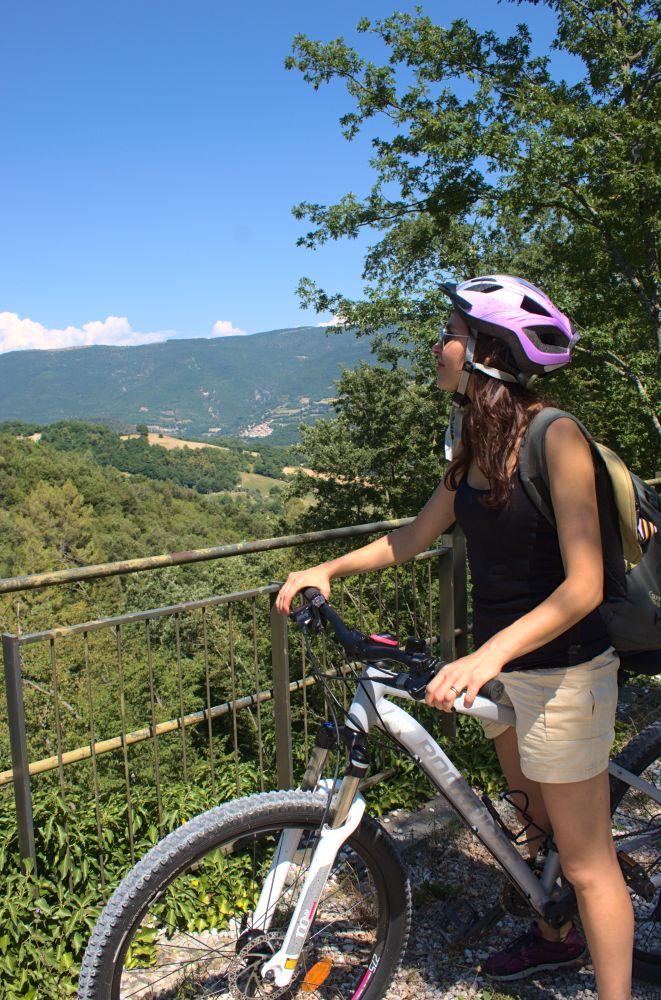 Herrlicher Ausblick auf der Spoleto Norcia Radstrecke