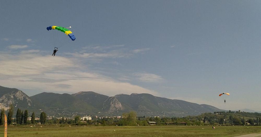 Fallschirmspringen in Terni - Italien